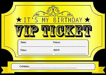 Amazon 10 vip golden ticket theme birthday party invitations 10 vip golden ticket theme birthday party invitations kids invites childrens i003 filmwisefo