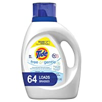 Deals on Tide Free and Gentle Liquid Laundry Detergent, 100 oz