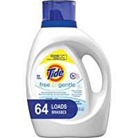 Deals on Tide Free and Gentle HE Laundry Detergent Liquid 100oz