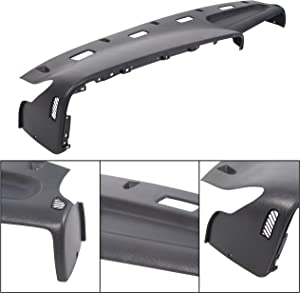 ECOTRIC Top Dash Panel Dashboard Cap Bezel Cover Overlay Replacement for 5EY72RC8 Fits 1994-1997 Dodge Ram 1500 2500 3500 Gray Trucks