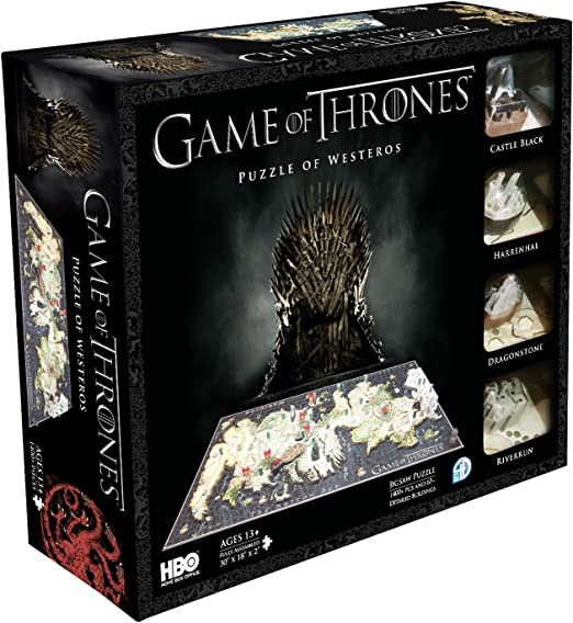 4D Cityscape Game of Thrones Dragon Egg Puzzles Set Jigsaw Multicolor