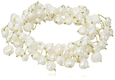Fashion Jewelry Strong-Willed Lotta Styles Everyday Favorite Freshwater Simulated Cream Pearl Stretch Bracelet