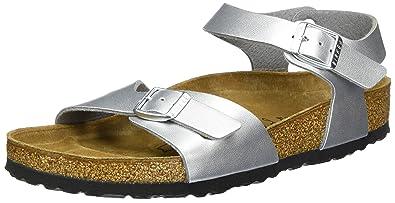 Birkenstock Rio Kids Small Girls Sandals (7 7.5 US Junior) (Silver