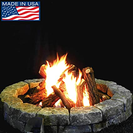 "MaxRed Myard Logs Only, for 42"" Diameter Fire Pit/Fireplace, 96000 BTU - Amazon.com: MaxRed Myard Logs Only, For 42"