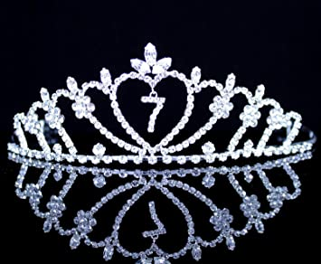 Amazon.com: janefashions – seven-year-old Rhinestone Tiara ...