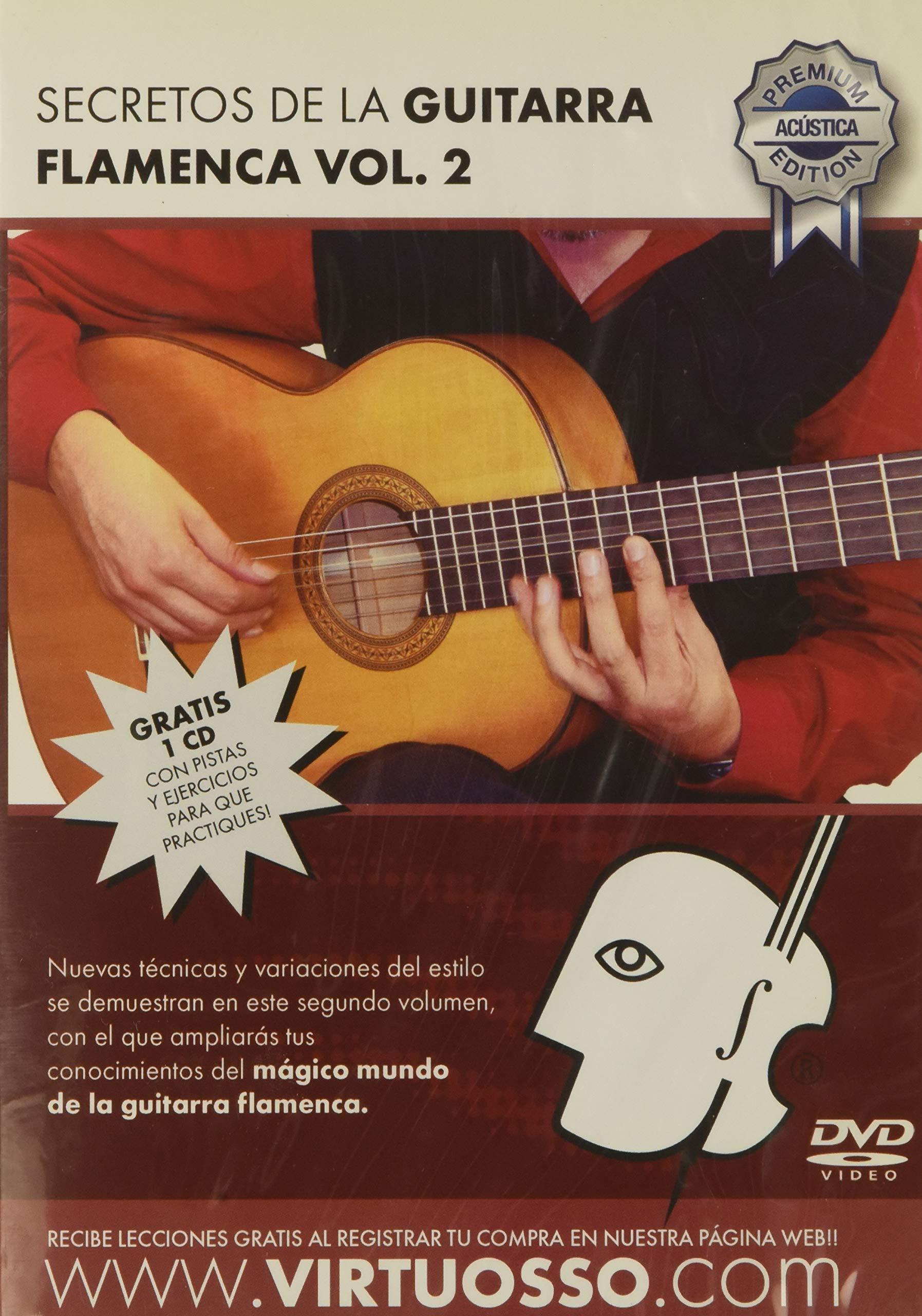 Virtuosso Flamenco Guitar Method Vol.2 (Curso De Guitarra Flamenca Vol.2) SPANISH ONLY