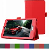 Acer ICONIA ONE 7 B1-750 Funda,Mama Mouth Slim PU Cuero Con Soporte Funda Caso Case para Acer ICONIA ONE 7 B1-750 Tablet,Rojo