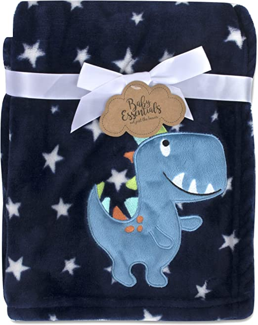 Grey Bear Baby Essentials Plush Fleece Throw and Receiving Baby Blankets for Boys and Girls
