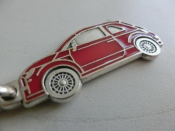 Rojo Tuning llavero plateado esmalte rojo 100% Made in Italy ...