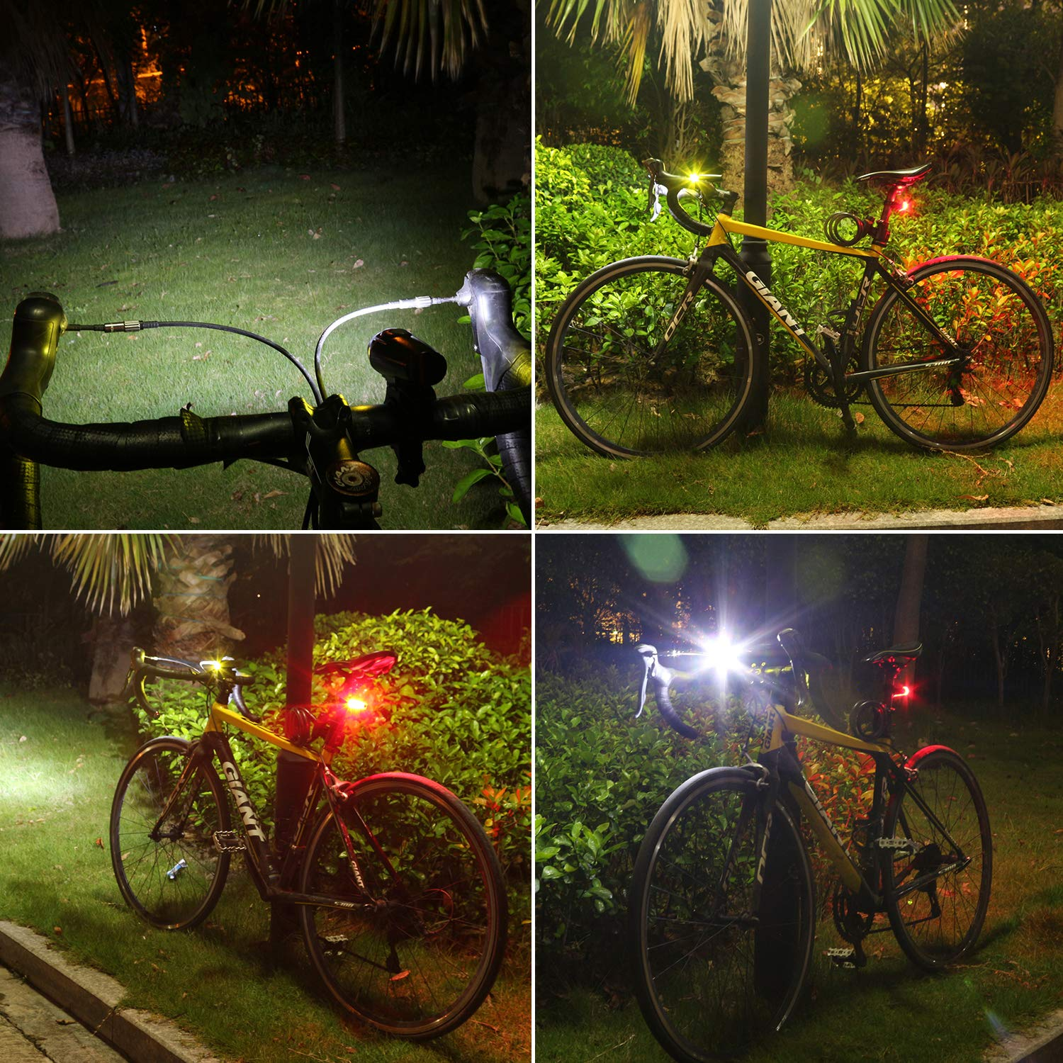 Rechargeable Taillight Included Uncharted Roads Gear URG Pro Ultra Bright USB Rechargeable Bike Light Set