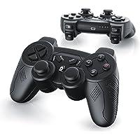 CSL - 2 x Wireless Gamepads per Playstation 3 / PS3 | Dual Vibration - Joypad Controller | nero
