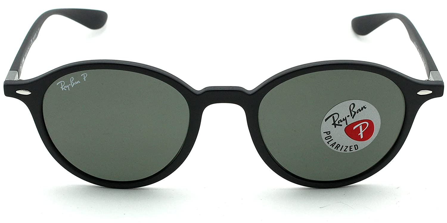 Ray-Ban RB4237 601S58 ROUND LITEFORCE Matte Black Frame / Green Polarized Lens 50mm