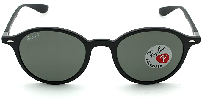 Amazon.com: Ray-Ban RB4237 601S58 ROUND LITEFORCE Matte Black Frame / Green Polarized Lens 50mm: Clothing