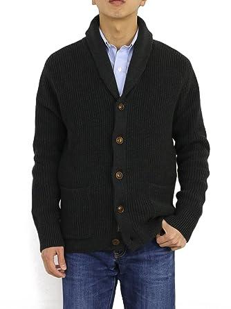 Amazon   (ポロ ラルフローレン) POLO Ralph Laurenメンズ コットン ショールカラー カーディガン セーター [並行輸入品]    カーディガン 通販