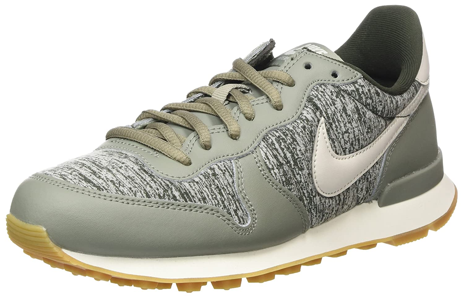 Nike Wmns Internationalist, Zapatillas para Mujer 38 EU|Verde (Dark Stucco/Light Bone-sequoia-sail-gum Light Brown 022)