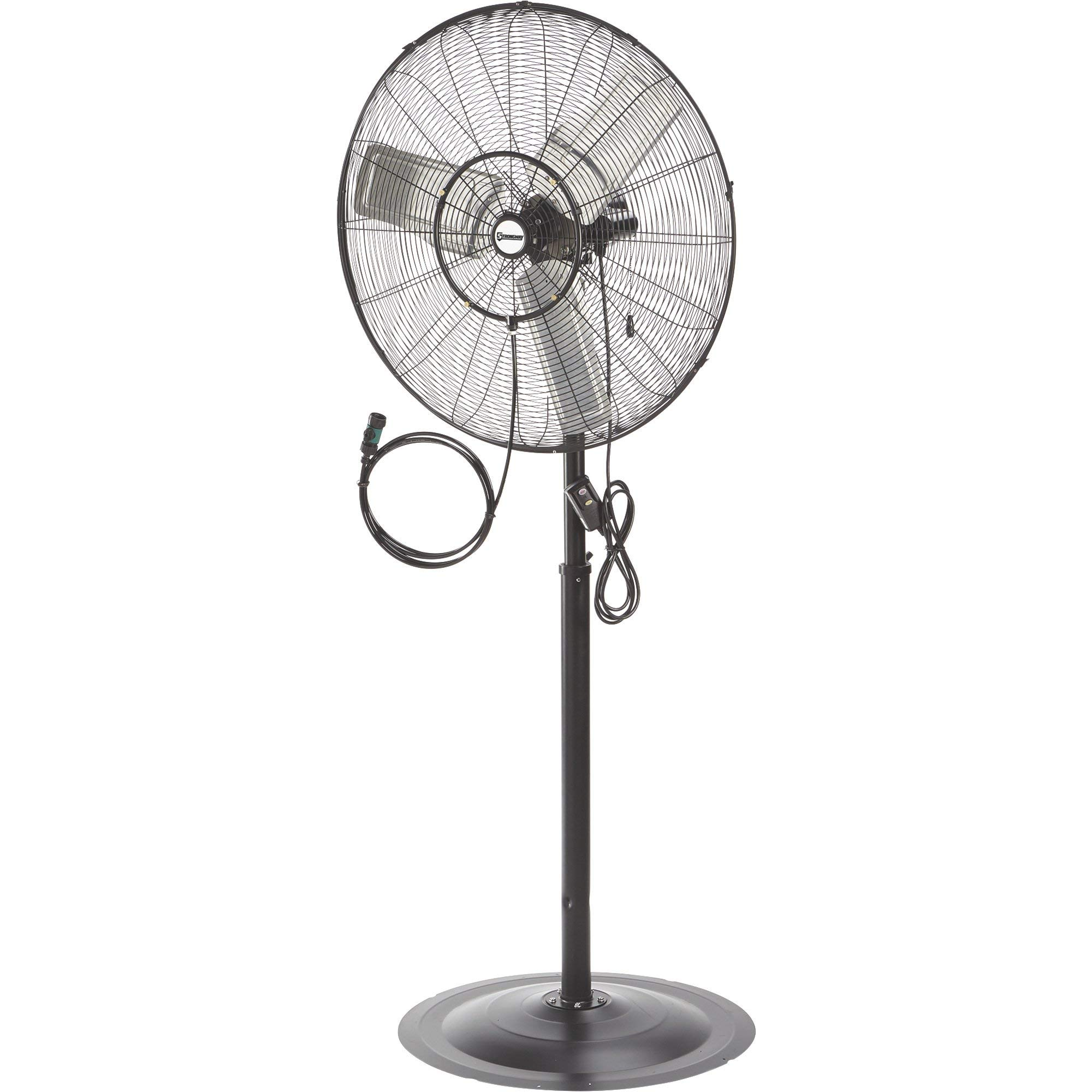 Strongway Outdoor Pedestal Misting Fan - 30in. 7200 CFM by Strongway