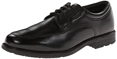 Rockport Men's Lead The Pack Apron Toe Black WP Leather 6.5 W (EE)-