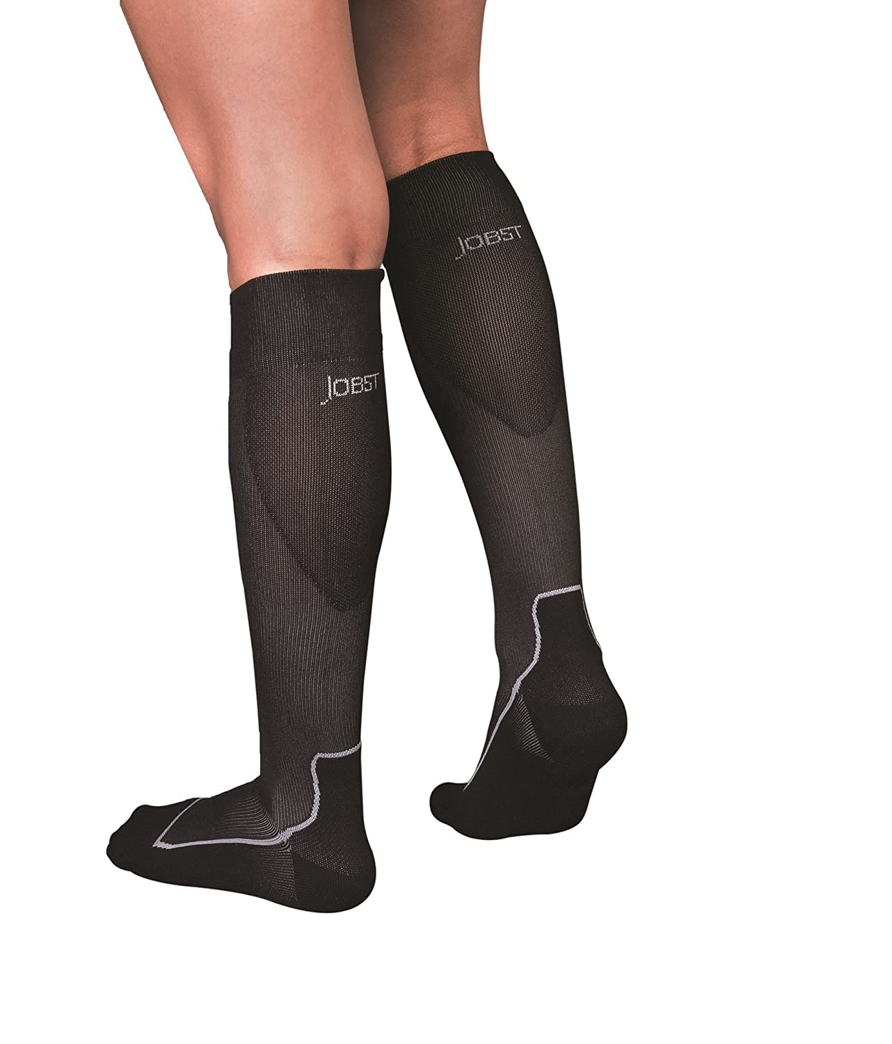 Amazon.com: JOBST Sport Knee High 15-20 mmHg Compression Socks, Black/Grey, X-Large: Health & Personal Care