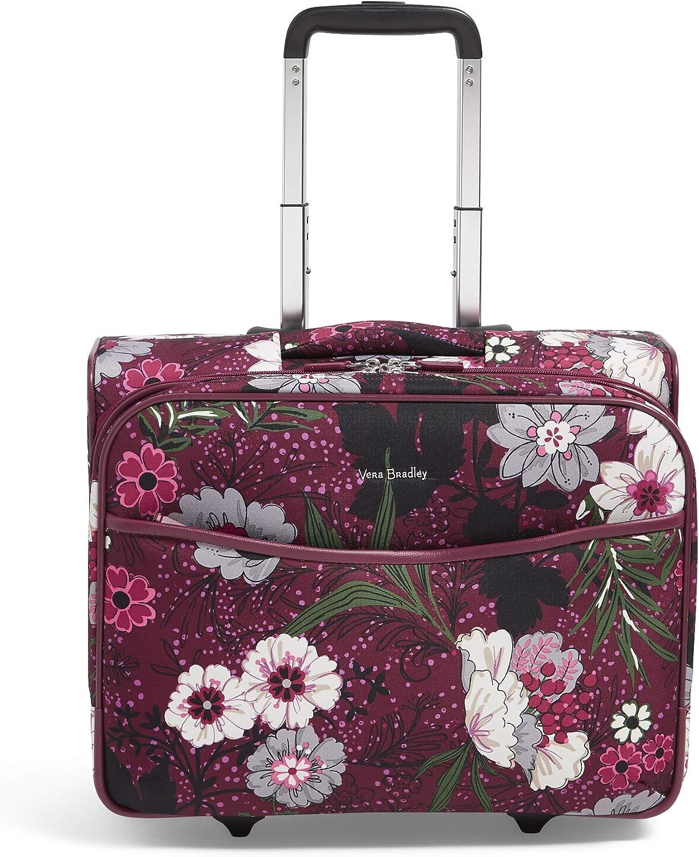 Vera Bradley Women's Softside Rolling Work Bag, Bordeaux Meadow