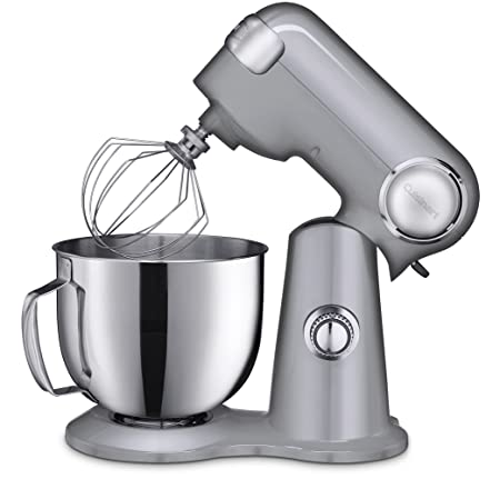 Cuisinart SM-50BC 5.5-Quart Stand Mixer, Brushed Chrome, Silver Lining