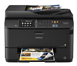 Epson Workforce Pro WF-4630 Wireless Color All-in-One Inkjet Printer with Scanner and Copier, Amazon Dash Replenishment Enabled