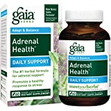 Gaia Herbs Adrenal Health, 60 liquid-filled veg capsules, Bottle