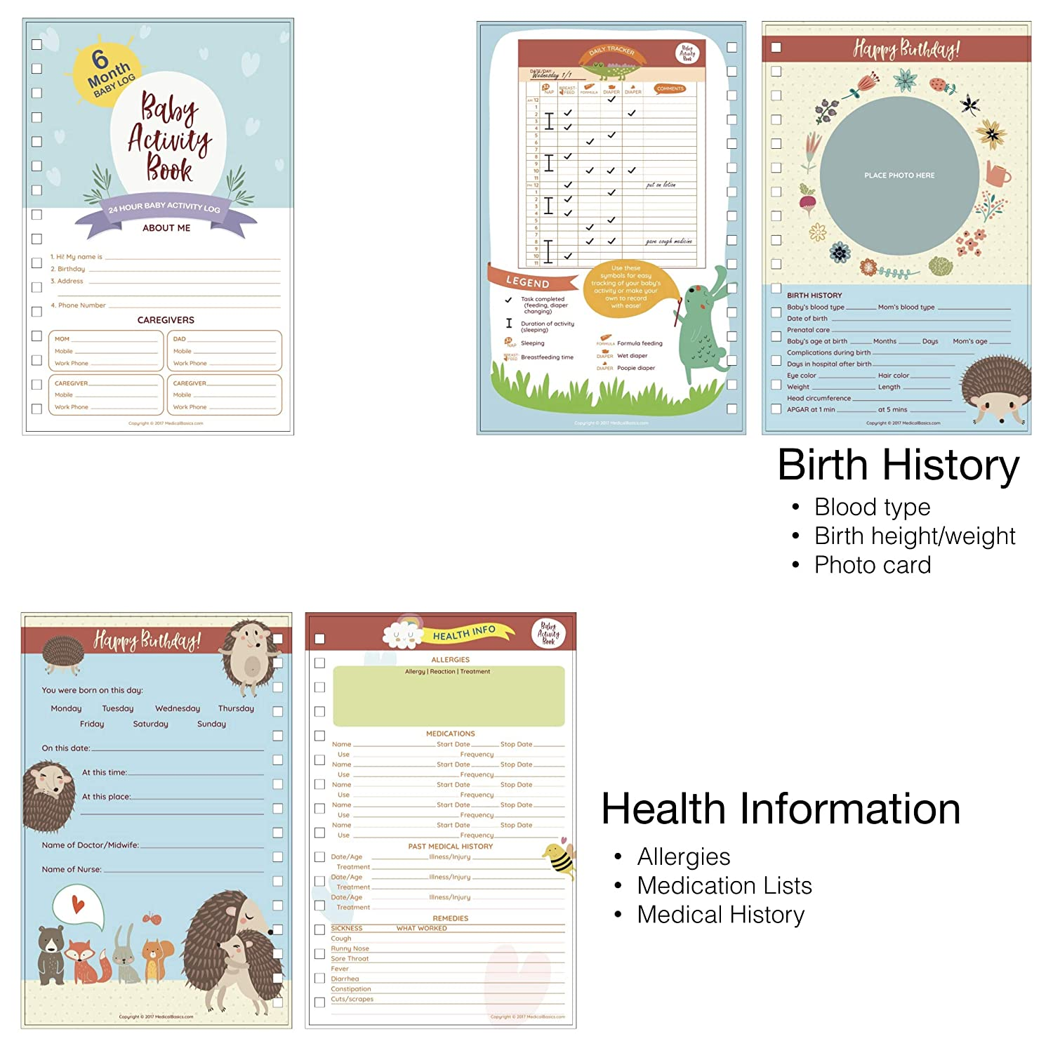 Baby Schedule Tracker Boy Edition Perfect Gift for New Moms Newborn Log Daily Activity Book Baby Tracker Journal for Newborns - Baby Diary