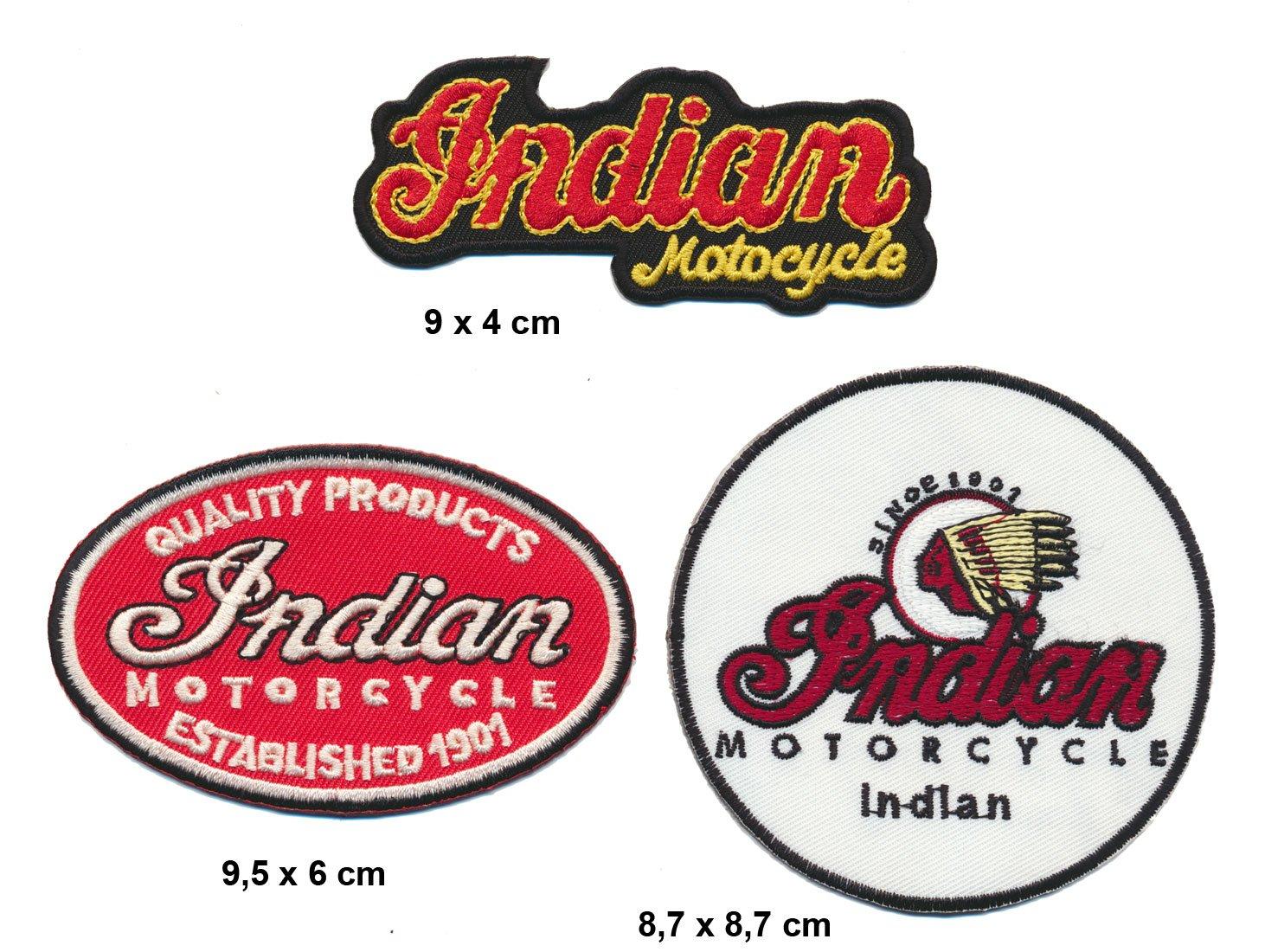 indian parche para planchar Patch 3 pieza Moto Chief Drifter Turbo Enví o Royal Garment