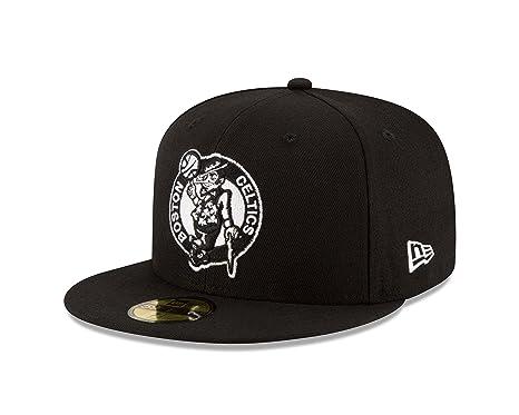 timeless design 09c11 82957 New Era Boston Celtics NBA Black White 59fifty 5950 Fitted Cap Limited  Edition  Amazon.co.uk  Sports   Outdoors