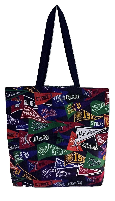 Ralph Lauren Polo Pennant - Bolso de algodón, color negro: Amazon ...