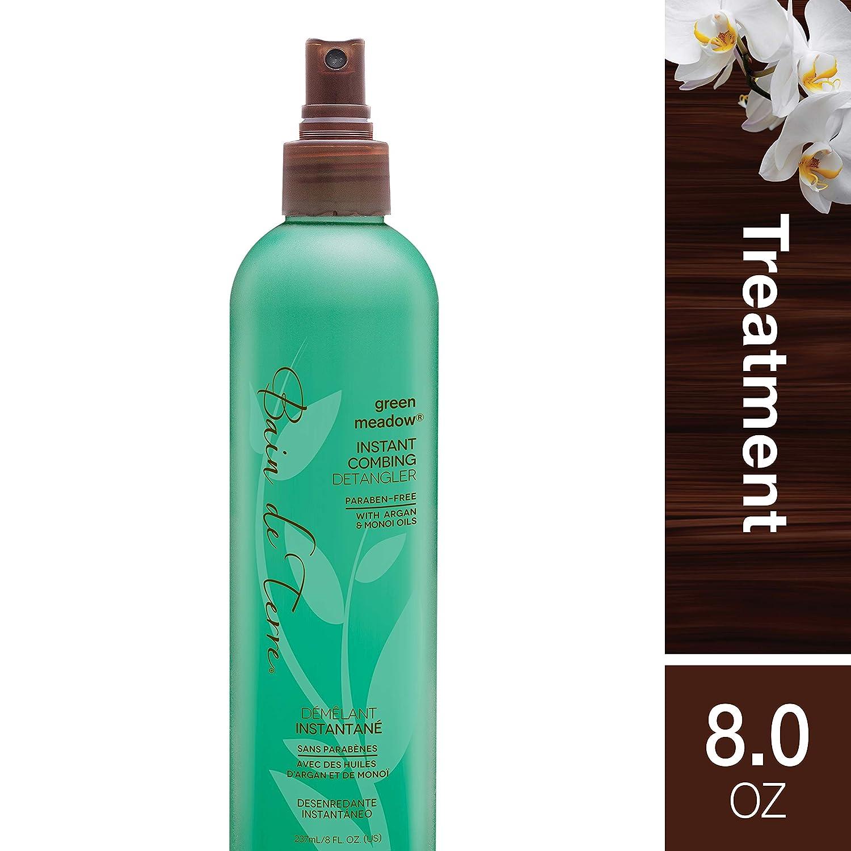 Amazon Com Bain De Terre Green Meadow Instant Combing Detangler With Argan And Monoi Oil Paraben Free 8 Ounce Hair Detanglers Beauty
