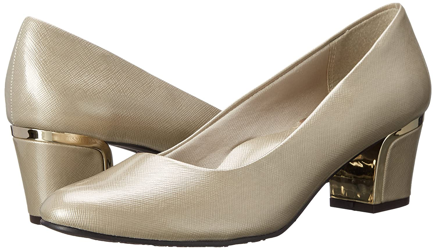 Soft Style von Deanna Hush Puppies Deanna von Kleid Pump Bone Cross/Hatch Patent/Gold Heel a205b1
