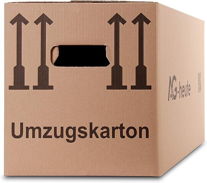 15 Umzugskarton 1-wellig Umzugskiste Ordner Karton doppelter Boden