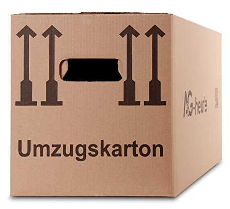 10 caja de cartón para mudanzas de cartón plegables Mudanza Cajas Move Caja de 2 Ondulado