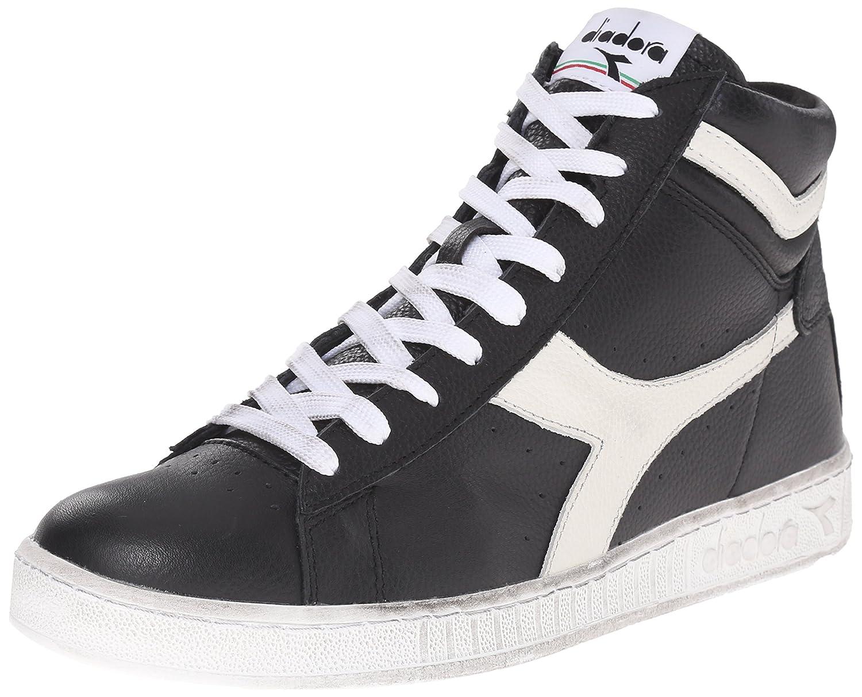 Diadora Men's Game L Low Waxed Court Shoe 8.5 M US|Black/Cloud Dancer