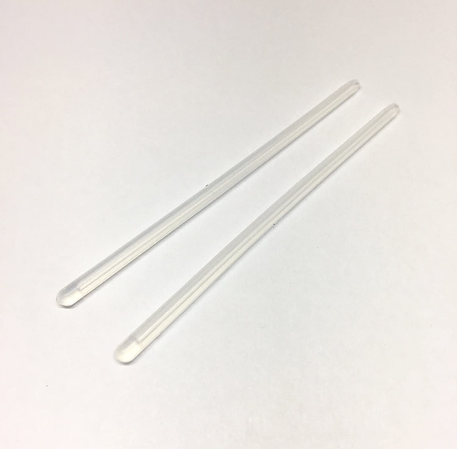 2 Pairs High Quality Silicone Temple Tips for Thin 1.0mm thickness Wire Rimless Frames Temples