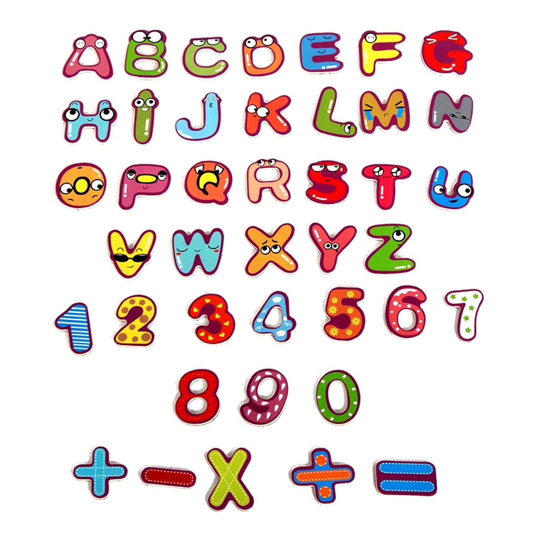 Educational Alphabet juego de imán, imanes de nevera número ...