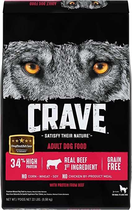Amazon Com Crave Grain Free Beef Protein Dry Adult Dog Food 22