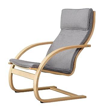 Orolay Fauteuil Confortable Structure Bouleau Flexible Gris Amazon