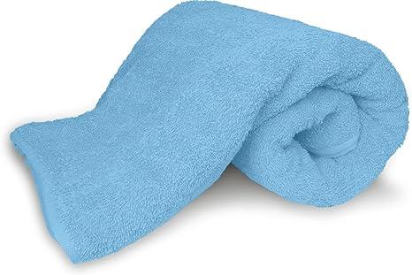 Microfibra toalla para sauna en 6 diferentes tamaños – Potente absorción, azul, 40 x