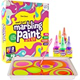 Dan&Darci Marbling Paint Art Kit for Kids - Arts and Crafts for Girls & Boys Ages 6-12 - Craft Kits Art Set - Best Tween Pain