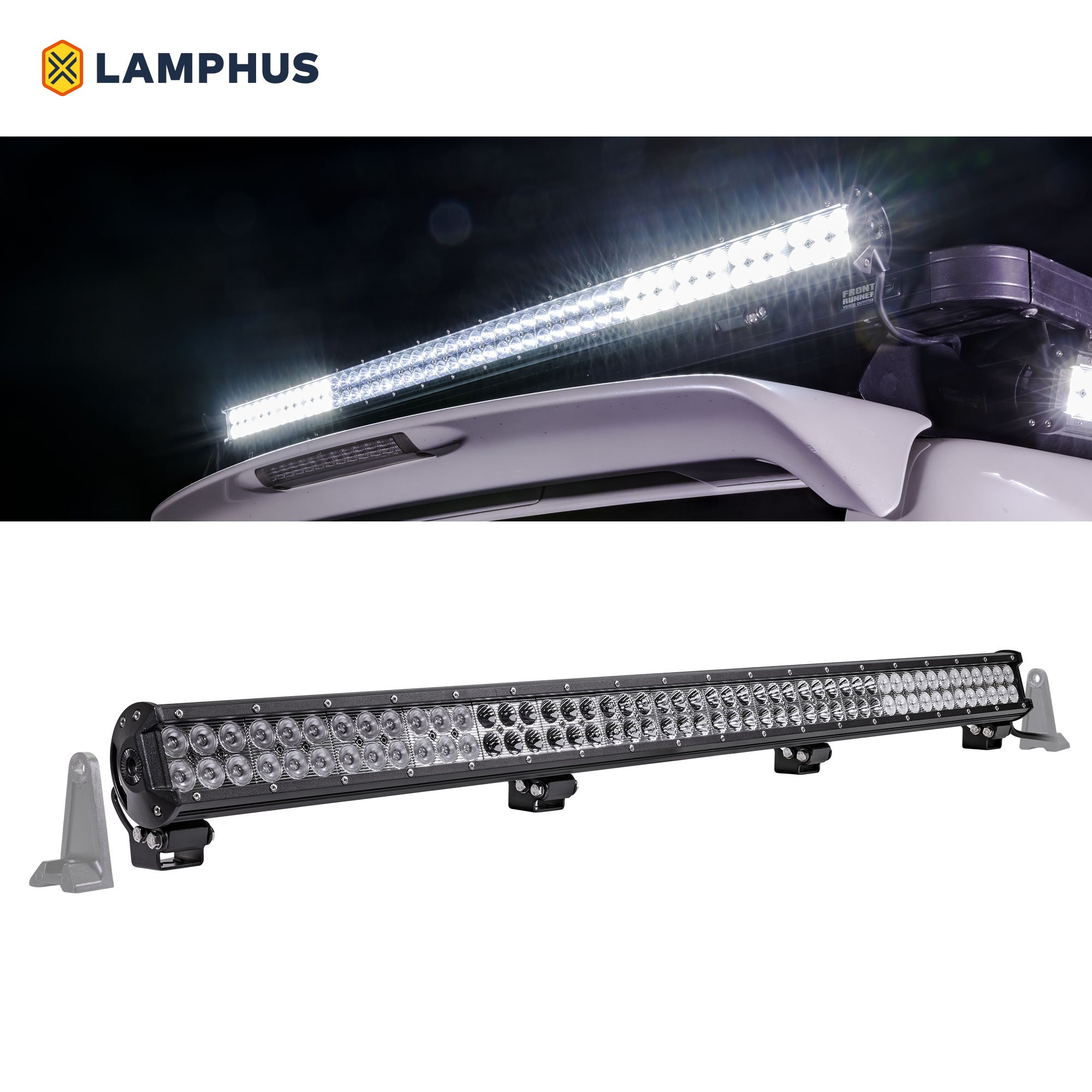 LAMPHUS CRUIZER 44'' 288W LED Flood/Spot Combo [30/60 Degree Spread] [Spot/Flood/Driving Light Applications] [IP67] – For Off-Road, Agricultural, Construction & Marine Use