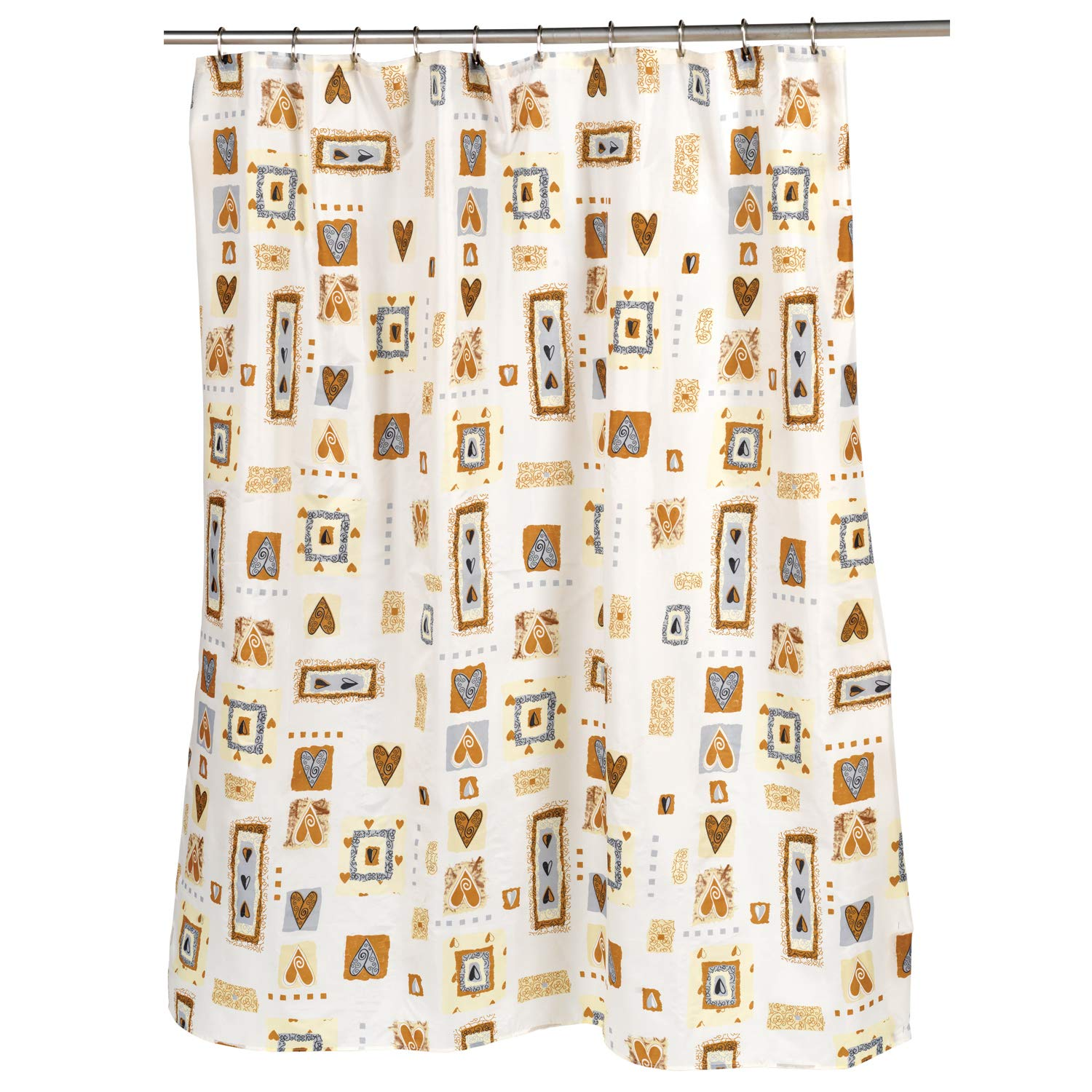 Easy Hang Fun Designs for Shower Stalls /& Bathtubs Standard Anti-Mildew Material Machine Washable Fabric Multi 72 x 70 Water Resistant Sweet Home Collection Curtain