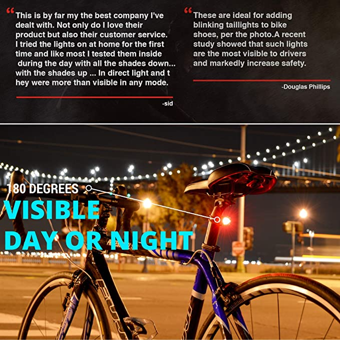 BG/_ Waterproof Bike Brake Led Red Light Lamp Mountain Bicycle Cycling Access FP