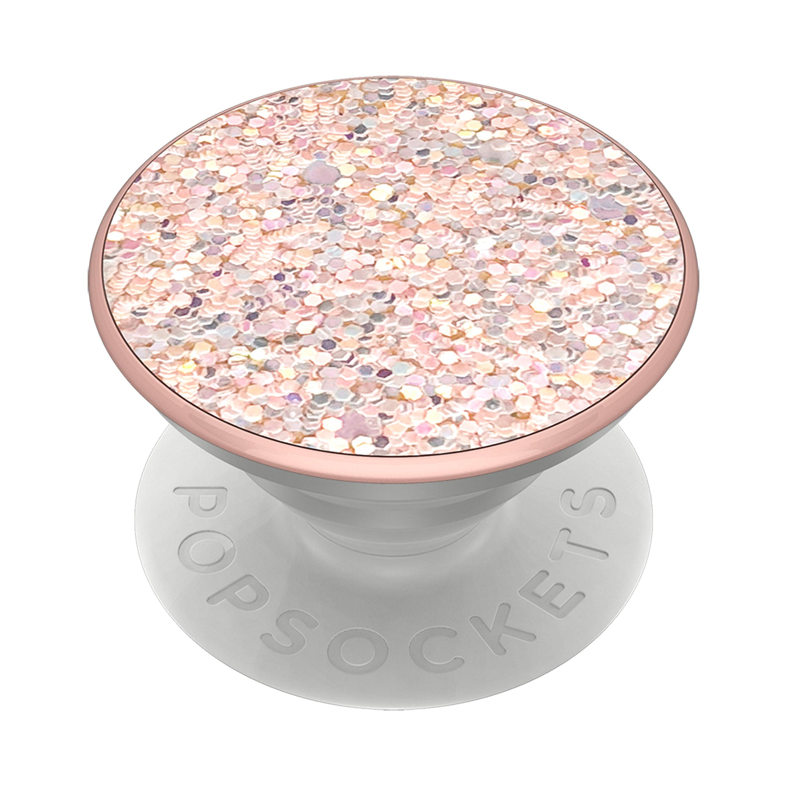 PopSockets PopGrip: Swappable Grip for Phones & Tablets - Sparkle Rose by PopSockets