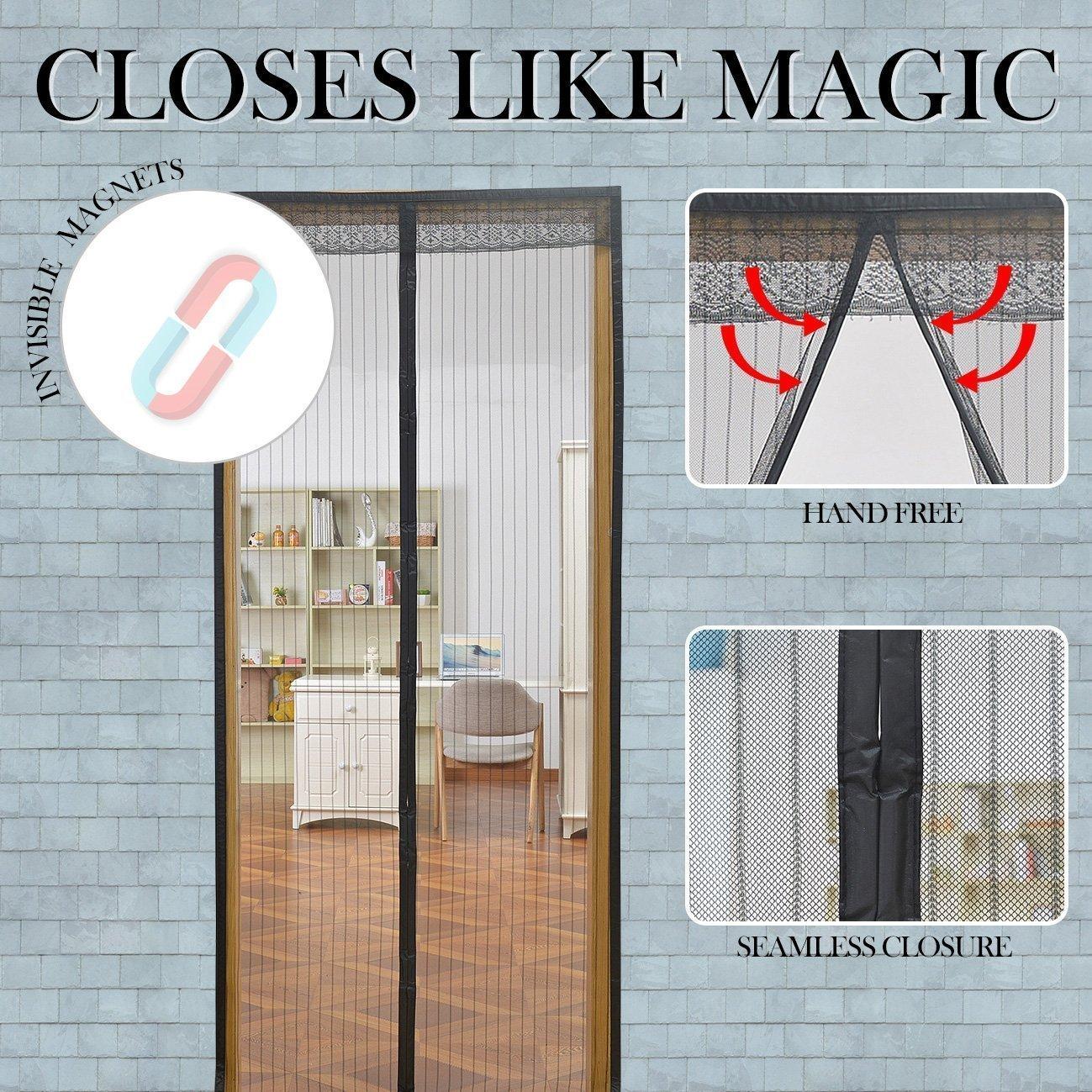 Linkhome 36w X 98h Magnetic Screen Door For French Doors