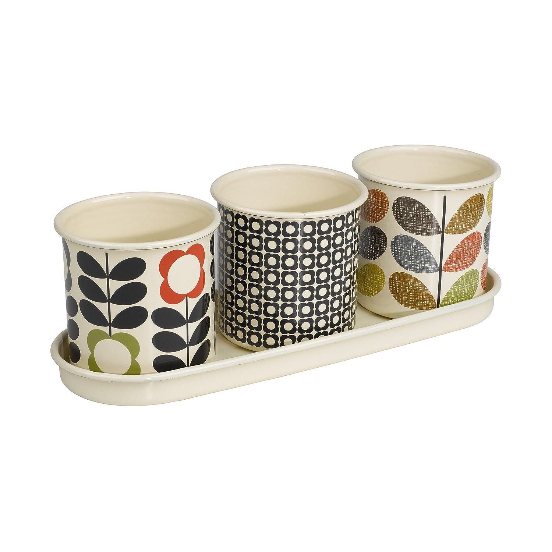 Orla Kiely 3 Herb Pots with Tray: Amazon.co.uk: Garden & Outdoors