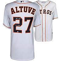 "$599 » Jose Altuve Houston Astros Autographed Majestic White Replica Jersey with""17 AL MVP"" Inscription - Fanatics Authentic Certified"