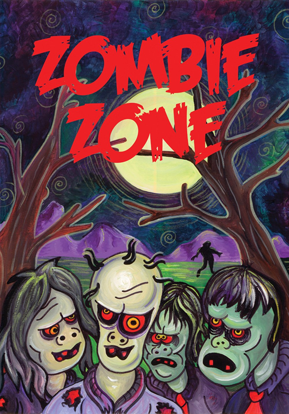 Toland Home Garden Zombie Zone 28 x 40 Inch Decorative USA-Produced House Flag