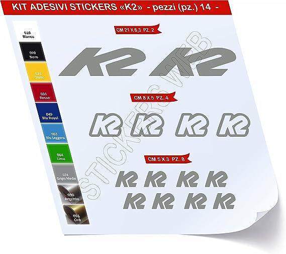 Pegatinas Bicicleta K2 Kit Pegatinas Stickers 14 piezas – Elige ...